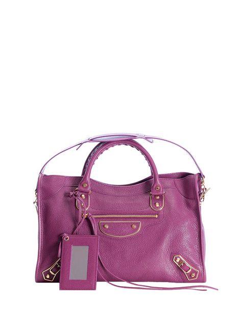 6f78929acce6 BALENCIAGA BALENCIAGA CLASSIC METALLIC EDGE CITY VIOLET PRUNE.  balenciaga   bags  tote  leather  lining  metallic  shoulder bags  hand bags
