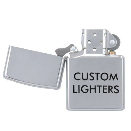 Custom Personalized Zippo Lighter Blank Template Create Your Own