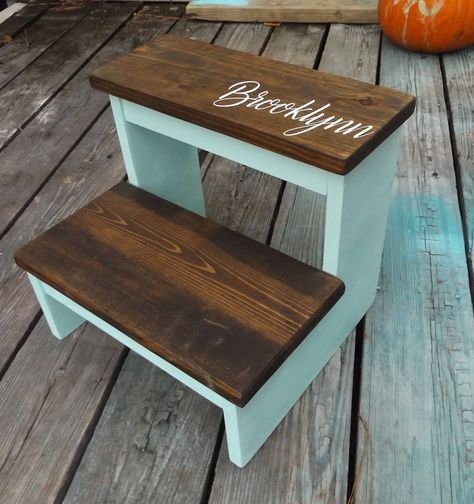 Tremendous Kids Step Stool Wood Step Stool Personalized Step Stool Caraccident5 Cool Chair Designs And Ideas Caraccident5Info