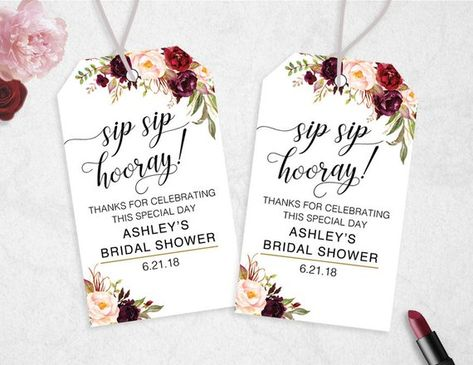 photograph regarding Sip Sip Hooray Printable referred to as Sip Sip Hooray Tags, Instantaneous Obtain, EDITABLE, Sip Sip