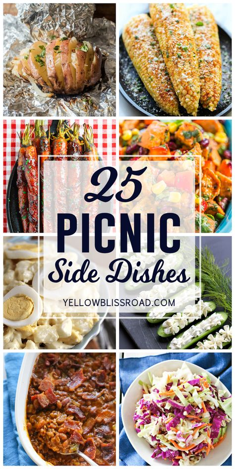 A tasty collection of Picnic Side Dishes. This list includes Mexican Corn on the Cob, Sweet Potato Salad and much, much more! A tasty collection of Picnic Side Dishes. This list includes Mexican Corn on the Cob, Sweet Potato Salad and much, much more! Barbeque Side Dishes, Cookout Side Dishes, Barbeque Sides, Cookout Food, Sides For Bbq, Sides For Hot Dogs, Rib Side Dishes, Bbq Chicken Side Dishes, Bbq Food Ideas Party