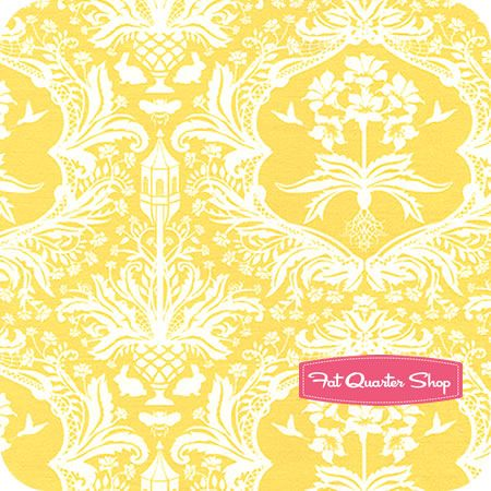 yellow damask fabric