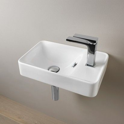 Savon Wall Basin 450 X 275 X 100 1th White With Images Basin