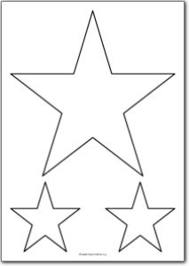 Printable 5 Pointed Star Shape