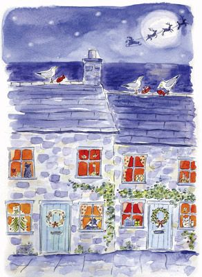 Dorset Cottages -- by Dorset, UK artist Janine Drayson. Love her work!