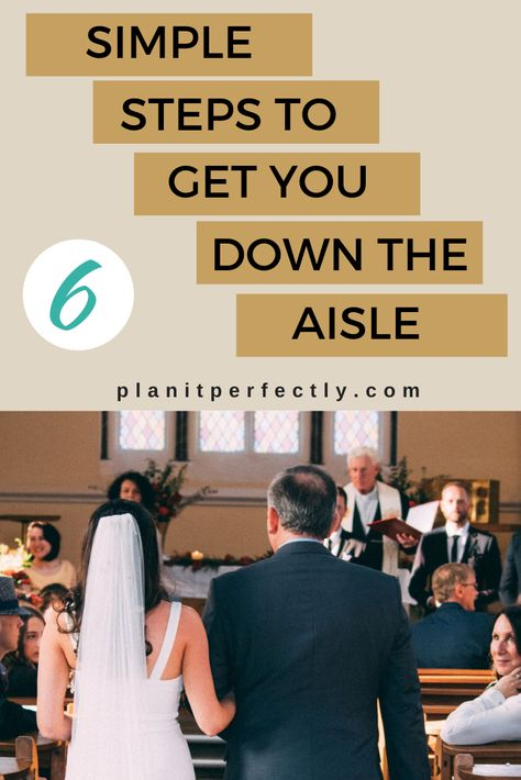 """Check out my """"6 Simple Steps to Get you Down the Aisle and Keep you Sane"""" - A very helpful guide that promises to help get your wedding planning under control. There's lots of tips on how to get started on the right path for your #weddingplanning.⠀ #weddingplanner #engaged #virtualweddingplanning #weddingplans #bridetobe⠀"""