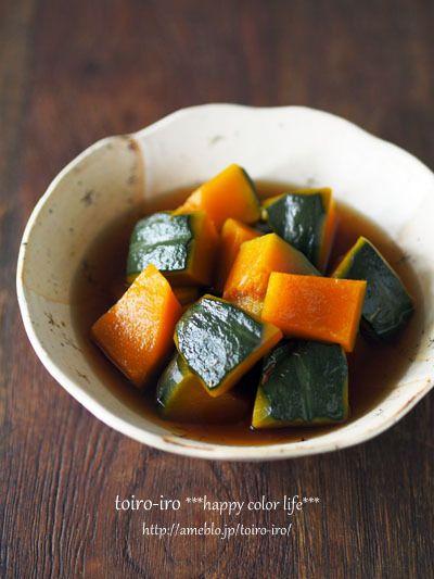 レンジで7分!かぼちゃの煮物