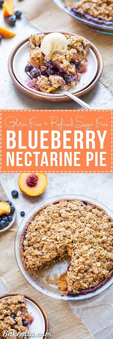 Blueberry Nectarine Pie Gluten Free Recipe Nectarine Pie