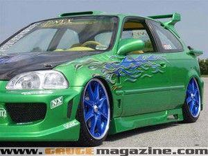 1997 Honda Civic Custom Gauge Magazine Honda Civic Shaved Door Handles Civic