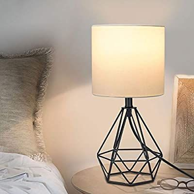Amazon Com Depuley Modern Black Table Lamp For Living Room Metal Desk Lamp With Hollowed Ou Modern Black Table Lamps Metal Desk Lamps Table Lamps For Bedroom