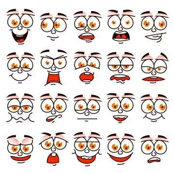 Cartoon Face Human Character Emotion Embarrassed Mad Shock Png And Vector With Transparent Background For Free Download