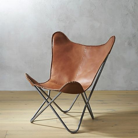 Crate And Barrel Cb2 1938 Leather Erfly Chair