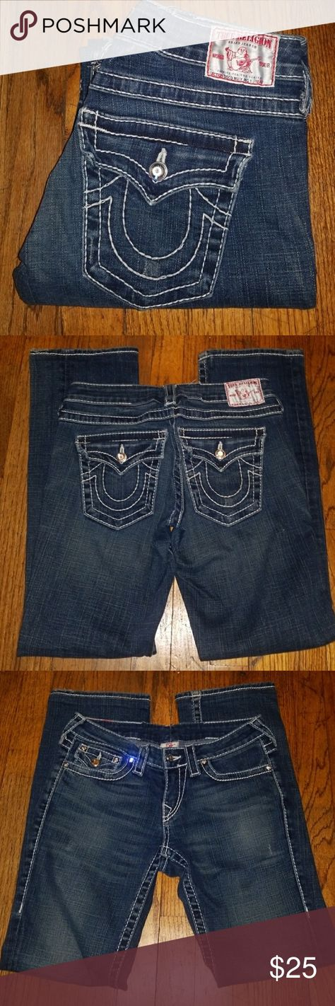 3fd01a32e True Religion Jeans. Disco Billy Big T These are True Religion jeans. The  style is Disco Billy Big T.They are size 26 with a inseam or length of 30 .