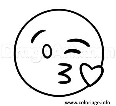 Coloriage Smiley Kawaii.How To Draw The Kiss Emoji Step 3 Art In 2019 Drawings Emoji