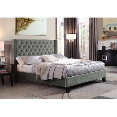Brassex Jia Upholstered Standard Bed Wayfair Ca Bed Frame Bed Contemporary Bed