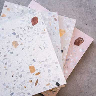 Mix Marble5 Marble 30x30 Terrazzo Decoration Appartement Bordeaux