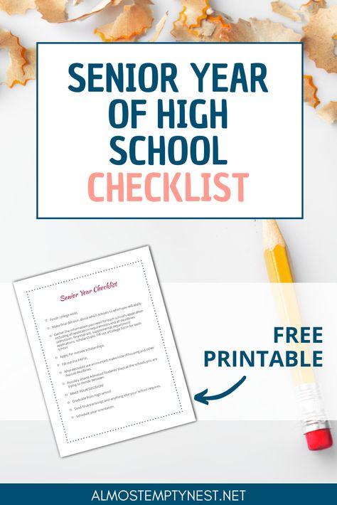 Senior Year of High School Checklist