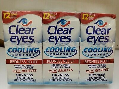 Advertisement 3 Clear Eyes Cooling Comfort Redness Relief Eye Drops 0 50oz Each Exp 10 21 In 2020 Health And Beauty Snack Recipes Health