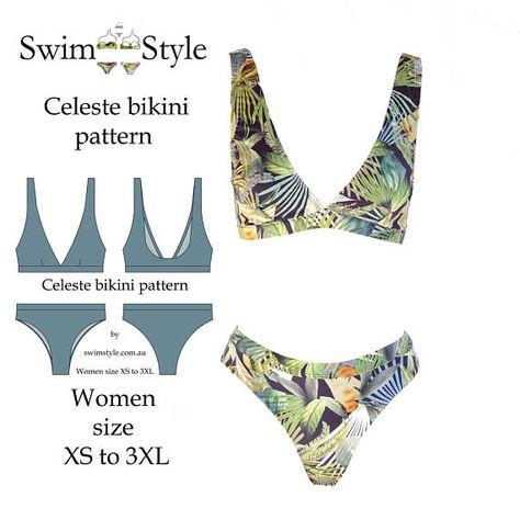 Celeste bikini pattern Women XS to – Swim Style