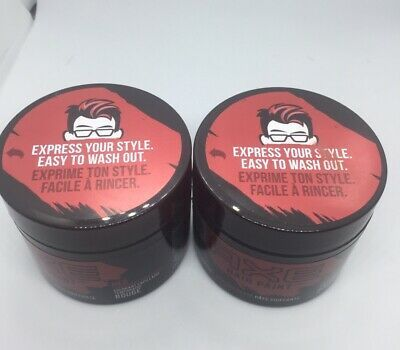 Lot Of Two Axe Hair Paint Red Temporary Color Styling Paste 2 3oz Each Free Ship In 2020 Axe Hair Products Hair Painting Temporary