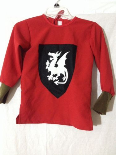 Boys Medieval Knight Costume Halloween Small 4 6 Kids Child Renaissance Shirt | eBay