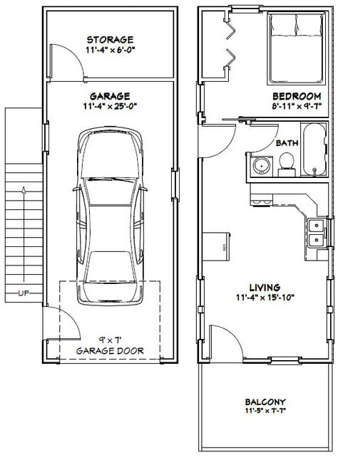 Sq Ft 461 78 1st 383 2nd Building Size 12 0 Wide 40 0 Deep Including Balcony Main Roof P Tiny House Floor Plans Cabin Floor Plans Tiny House Plans