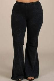 plus size ruffle bell bottom pants | new plus size fashion