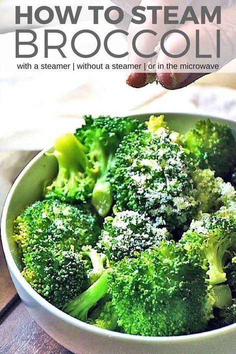How To Steam Broccoli Recipe Steamed Broccoli Recipes Steamed Broccoli How To Cook Broccoli