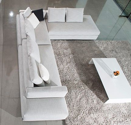 Design Bank Stof.Me Time In Fabric Leather And Combination Fabric Leather