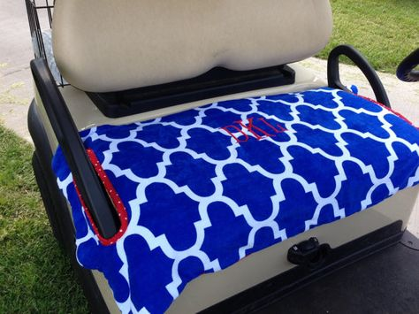 Monogrammed Moroccan Golf Cart Seat Cover