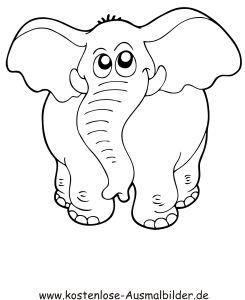 Ausmalbild Elefant 2 Kostenlos Ausdrucken Ausmalen Kostenlose Ausmalbilder Ausmalbild