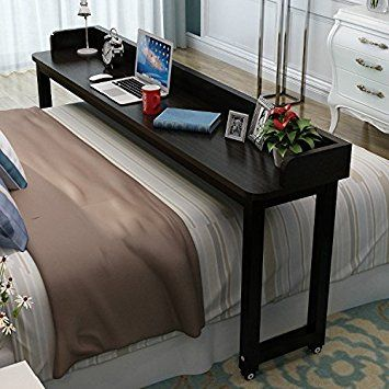Overbed Table With Wheels Tribesigns, Overbed Table Queen Bed