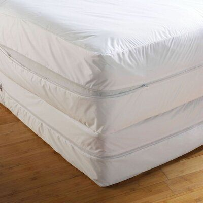 Alwyn Home Ilwell Bed Bug Wrapper Hypoallergenic Mattress Cover Size Queen In 2020 Mattress Covers Mattress Bed Bugs