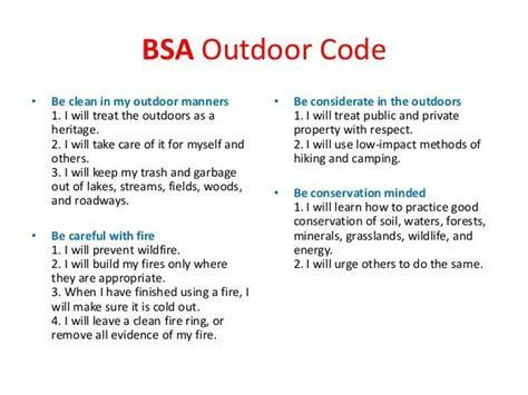 graphic about Outdoor Code Printable titled Pin upon Boy scout possibilities and finishes