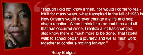 Ruby Bridges Quotes Best Ruby Bridges Foundation  So Brave As A Little Girl And Insightful