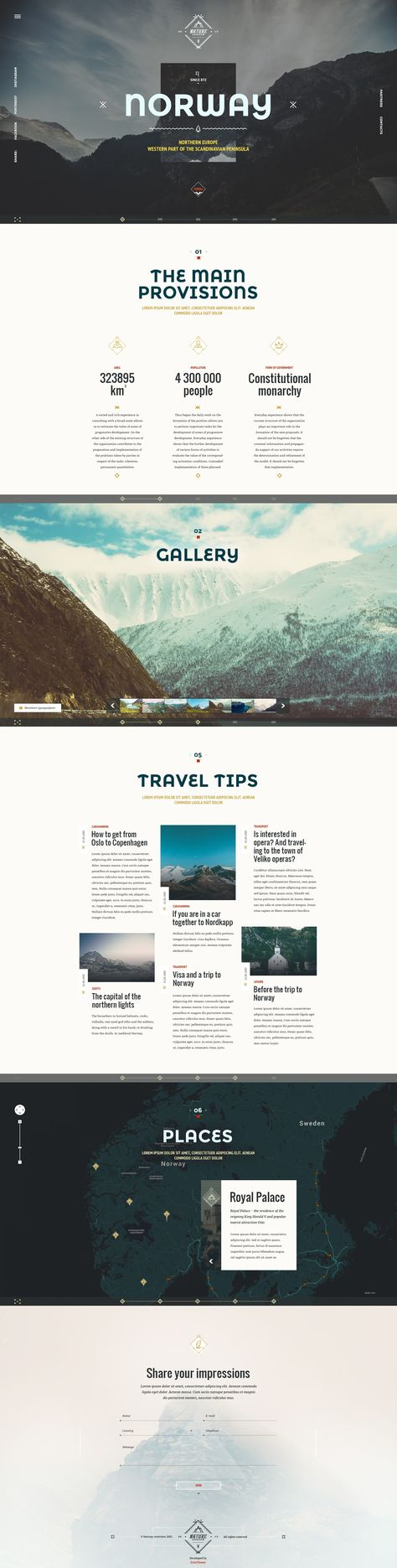 Norway Theme Nature Travel On Web Layout Design Web App Design Web Design Projects