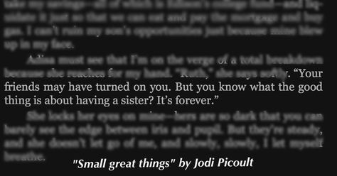 Jodi Picoults Small Great Things Words Of Wisdom Quotes Book