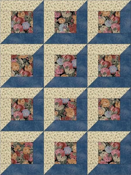 Risultato immagine per 12 Simple Quilt Block Patterns Cute easy to sew quilt kit already pre-cut for 12 quilt blocks. Pieces are cut to size and ready to sew. Flowers precut quilt kit for beginners. Our quilt kit is already precision pre-cut for accuracy. Quilt Blocks Easy, Big Block Quilts, Easy Quilts, Beginner Quilt Patterns, Applique Quilt Patterns, Pattern Blocks, Attic Window Quilts, Log Cabin Quilt Pattern, Simple Quilt Pattern