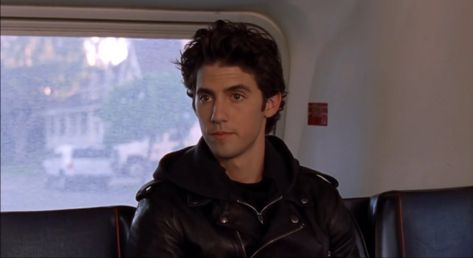 Jess Gilmore, Gilmore Girls Characters, Jacob Black Twilight, Girlmore Girls, Milo Ventimiglia, My Future Boyfriend, Dream Guy, Baby Daddy, Leather Jackets