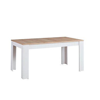 Table L160 Avec Allonge Romance Imitation Pin Imitation Chene Table Chene Salle A Manger