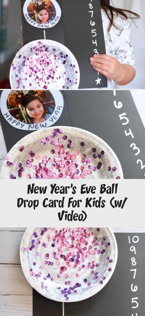 Love this cute countdown card for kids to celebrate New Year's Eve! #NYE #NewYearsEve #kidscrafts #kidsactivities #HomeDecorDIYVideosOnABudget #HomeDecorDIYVideosBedroom #HomeDecorDIYVideosApartment #HomeDecorDIYVideosCheap #HomeDecorDIYVideosLivingRoom