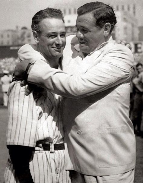 June 1903 - Lou Gehrig was born In the first image, New York Yankees Louis H. (Lou) Gehrig (Charles M. Conlon/Sporting News Archives) In the second image, New York Yankees Lou Gehrig is. Lou Gehrig, Babe Ruth, Ruth 3, Yankee Stadium, My Yankees, New York Yankees, Yankees Outfit, Baseball Players, Baseball Cards