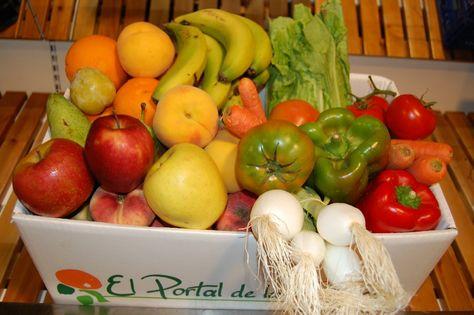 Caja Para El Consumo De Fruta Y Verdura De Dos O Tres Personas