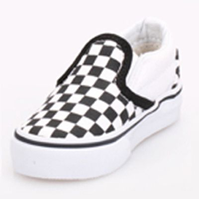 a802f3d9bb Shop Vans Classic Slip On Black True White Checker Toddler Shoes  (VN-0EX8BWW) online at GetShoes.ca leading Vans outlet retail store Canad…