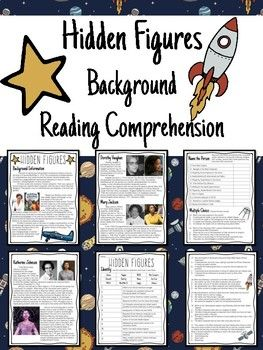 Hidden Figures Background Reading Comprehension Worksheet Space