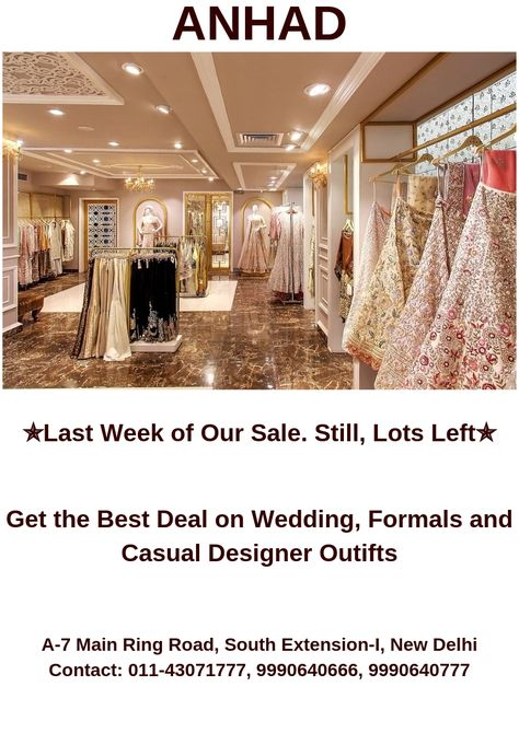 Get the Best Deal on #Wedding, #Formals and #Casual #Designer Outfits...