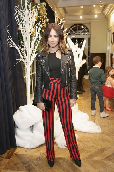 Ashley Tisdale attends the Brooks Brothers holiday celebration with St Jude Children's Research Hospital.