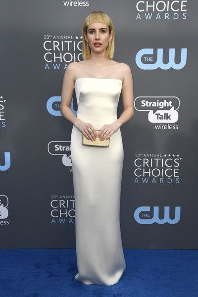 Actor Emma Roberts attends the 23rd Annual Critics' Choice Awards.