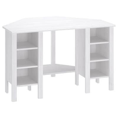 Micke Corner Workstation Oak Effect 100x142 Cm In 2020 Ikea