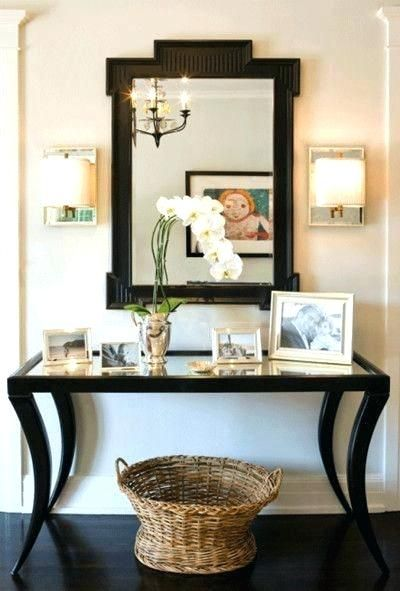 Hallway Mirror And Table Entrance Table And Mirror Best Home